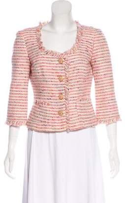 Trina Turk Long Sleeve Tweed Jacket