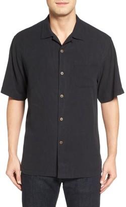 Men's Big & Tall Tommy Bahama Islander Fronds Silk Camp Shirt $125 thestylecure.com