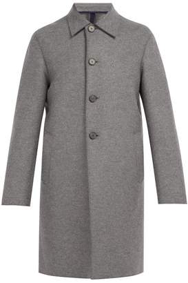 Harris Wharf London Single Breasted Wool Overcoat - Mens - Grey