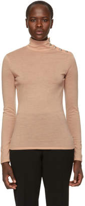 Balmain Pink Wool Turtleneck