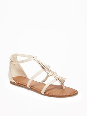 Sueded Tiered-Fringe Sandals for Women $26.94 thestylecure.com