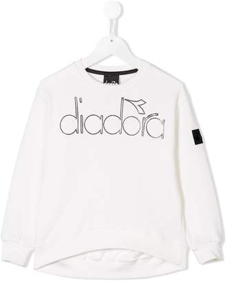 Diadora Junior printed logo sweatshirt