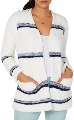 Style&Co. Style & Co. Petite Striped Open Cardigan