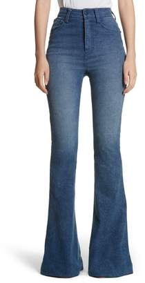 Brandon Maxwell High Waist Bell Bottom Jeans