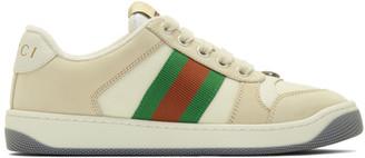 Gucci Beige Screener Sneakers