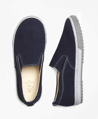 Brooks Brothers Boys Suede Sneakers