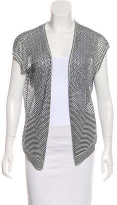 Magaschoni Short Sleeve Knit Cardigan