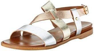 Marco Tozzi premio Women's 2-2-28142-22 Ankle Strap Sandals, (Silver Comb 948)