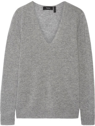 Theory - Adrianna Cashmere Sweater - Gray $265 thestylecure.com