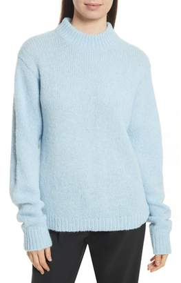 Tibi Cozette Easy Mock Neck Pullover