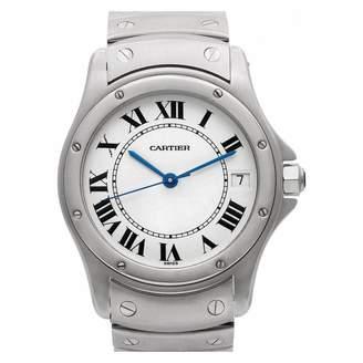 Cartier Santos Ronde White Steel Watches