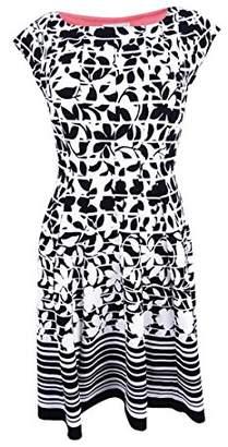 Robbie Bee Women's Petite 1 Pc Textured Knit Dress