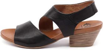 EOS Cuba-w Black Sandals Womens Shoes Casual Heeled Sandals