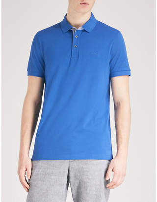 BOSS Slim-fit cotton-piqué polo shirt
