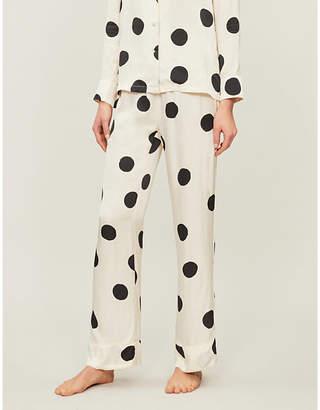 love stories Billy polka dot satin pyjama shorts