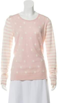 Clements Ribeiro Wool Polka-Dot Sweater Pink Wool Polka-Dot Sweater