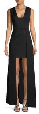 BCBGMAXAZRIA Sleeveless Woven Evening Dress