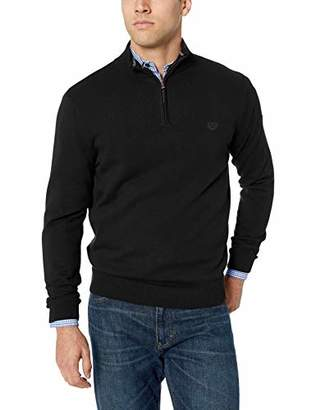 Chaps Men's Classic Fit Coolmax Quarter Zip Sweater