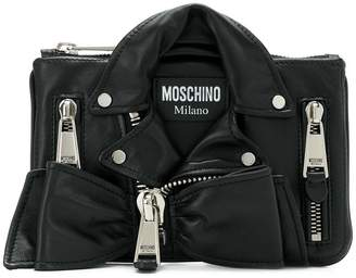 Moschino biker clutch bag