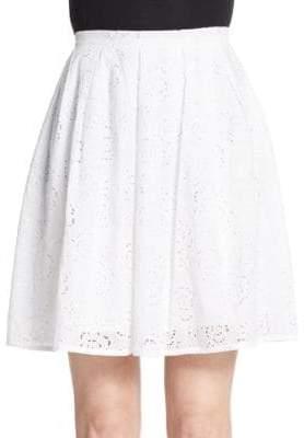 Christopher Kane Floral Eyelet Skirt