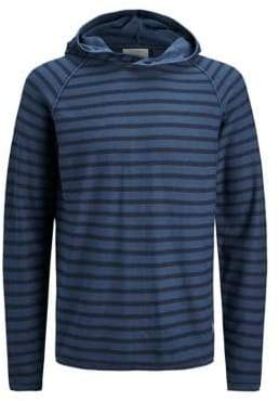 Jack and Jones Striped Knit Hooded Top