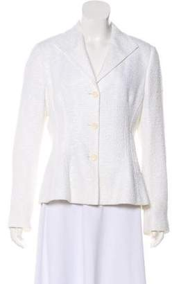 Zanella Bouclé Button-Up Blazer