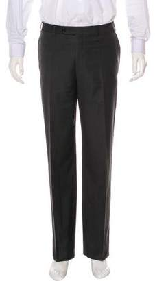 Canali Flat Front Wool Pants