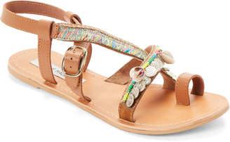 Steve Madden Bright Rowen Embellished Flat Sandals