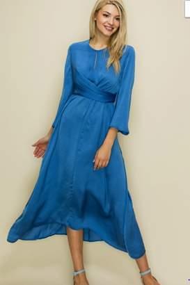 Glam Satin Three Way Wrap Dress