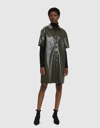 Stelen Beau Faux Leather Shirt Dress