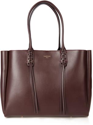 LANVIN Nela leather shopper $1,208 thestylecure.com