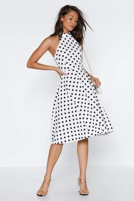 Nasty Gal High on the Agenda Polka Dot Dress