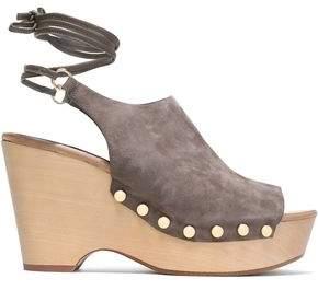 Diane von Furstenberg Bali Suede Wedge Sandals
