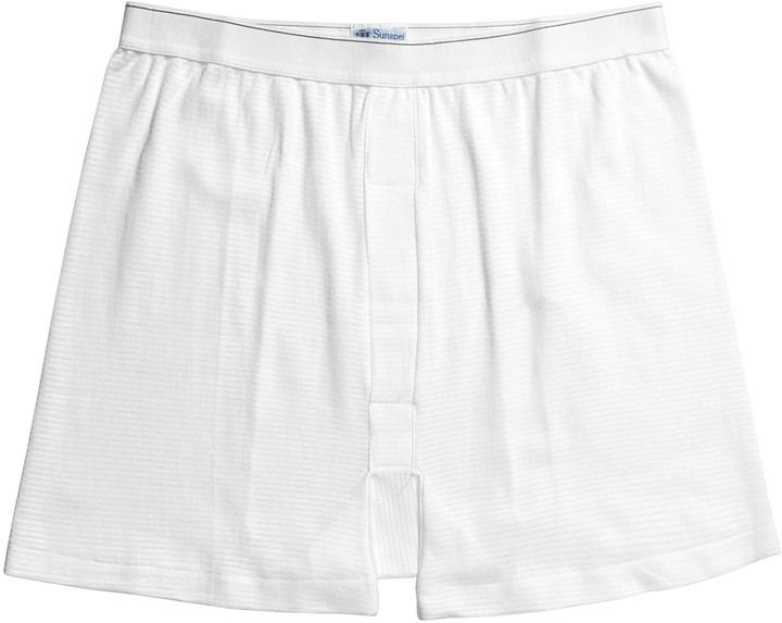 Sunspel Supima® Q14 Cellular Cotton Underwear Boxer Shorts - Q14 Cellular (For Big Men)