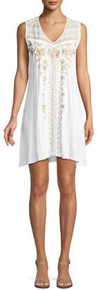 Johnny Was Briar Yoke Cotton Tank Tunic Dress