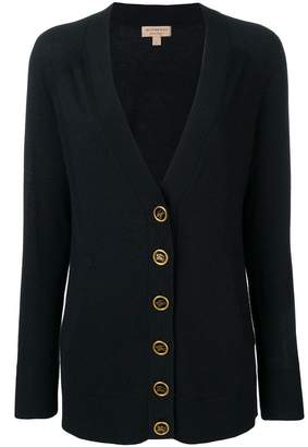 Burberry crest button cashmere cardigan