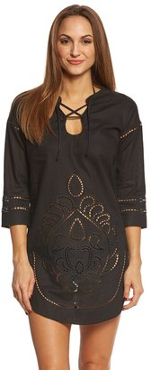 Seafolly Lace Front Cutwork Tunic 8148643 $162 thestylecure.com