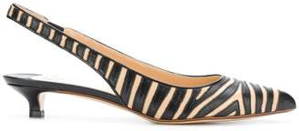Francesco Russo animal print slingback pumps