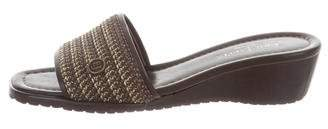 Eric Javits Braided Slide Sandals