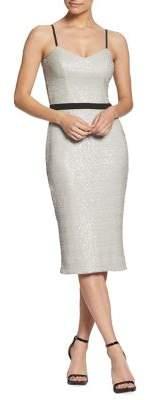 Dress the Population Emma Midi Sequin Sheath Dress