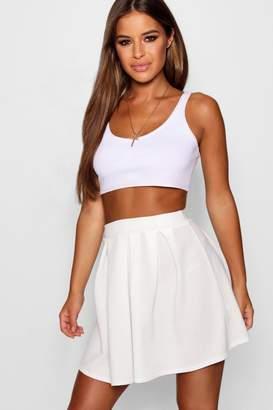 boohoo Petite Solid Colour Skater Skirt