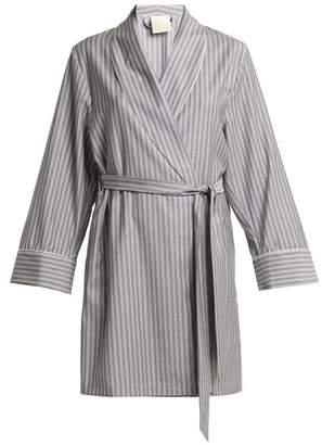 Morpho + Luna - Alix Striped Wool Robe - Womens - Grey Stripe