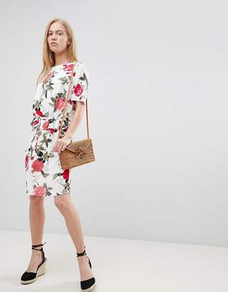 B.young Floral Waist Detail Dress