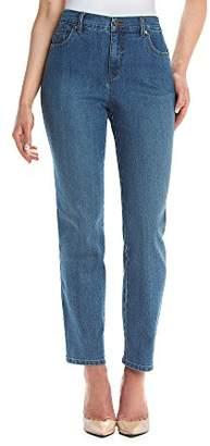 Gloria Vanderbilt Petite Amanda Classic Tapered Jean, Sundance Wash, 6P Short