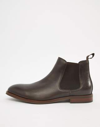 Office Imbark chelsea boots in chocolate leather