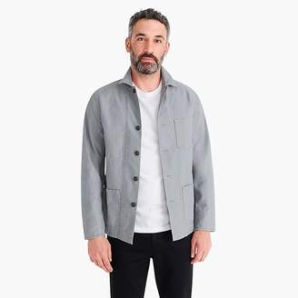J.Crew Wallace & Barnes twill cotton-hemp counter coat