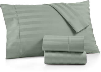 Aq Textiles Bergen Stripe 4-Pc. Queen Sheet Set, 1000 Thread Count 100% Certified Egyptian Cotton Bedding