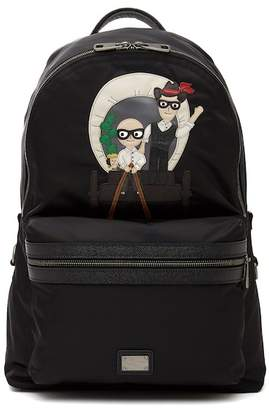 Dolce & Gabbana Patch Nylon Backpack