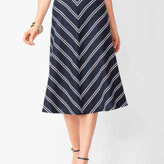 Talbots Dobby-Weave Stripe Midi Skirt