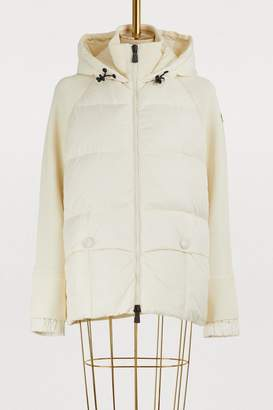 Moncler Knit and down cardigan